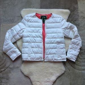 White C. Wonder jacket with leather trim, NEW